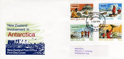 Sobre Primer Dia Nueva Zelanda Año 1984 Tema Antartida