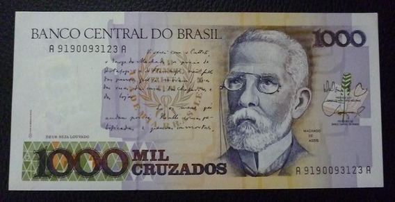 Brasil Billete 1000 Cruzados P 213 Año 1988 Unc Sin Circular