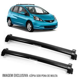 Rack De Teto Bagageiro Honda Fit 04 A 08 Eqmax Preto - 6103