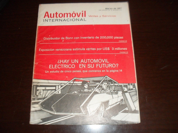 Revista Antiga Março 1967 Automovil Internacional