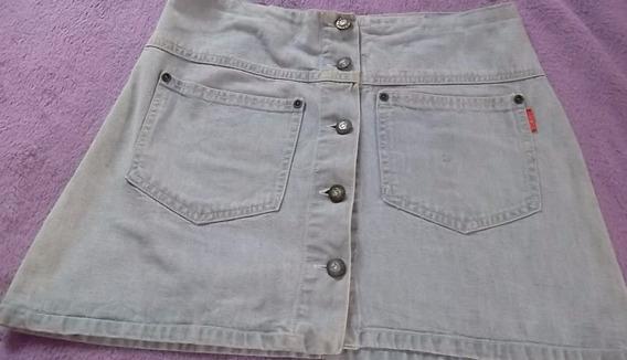 Mini Saia Jeans Da Demob Tam 40