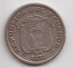 Ecuador Moneda De 1 Sucre Año 1937 !!!!