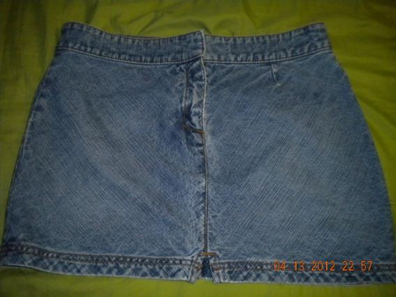 Pollera Minifalda De Jeans Marca Guess