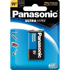 Kit 10 Cartelas - Bateria 9v Panasonic Super Hyper