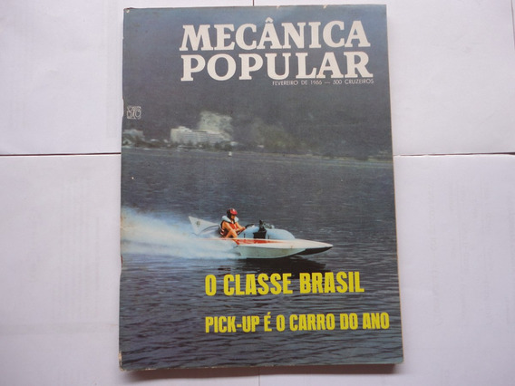 Revista Mecanica Popular 1966 Poster Simca Tufao/kombi/puma