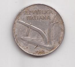 Italia Moneda De 10 Liras Año 1967 !!!