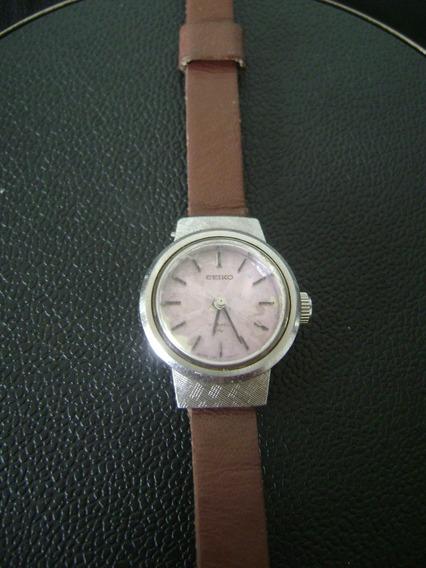 Antigo Relógio De Pulso Feminino A Corda Seiko
