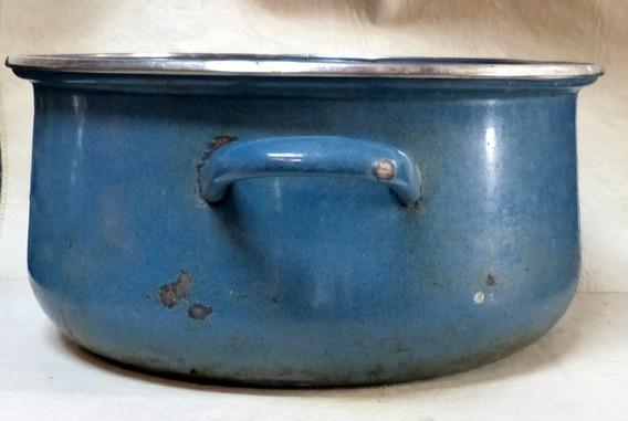 Antigua Olla De Aluminio 29 Cms De Diam Decoracion