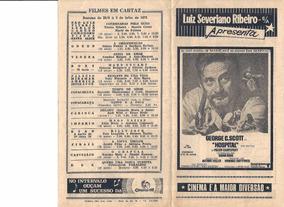 Programa Cinemas Luiz Severiano Ribeiro 1972