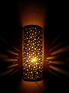 Luminaria De Pared De Bambú - Decorativa - Diseño Artesanal