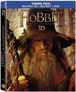 El Hobbit Un Viaje Inesperado 3d+bluray+dvd O Tapa Lenticula