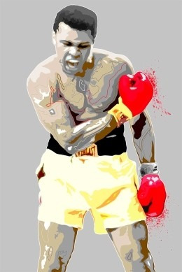 Muhammad Ali Cassius Clay Colorido - Poster Lámina 45x30 Cm.