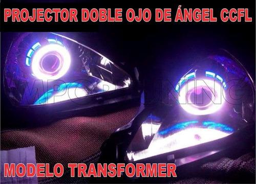 Imagen 1 de 6 de Ojo De Angel Con Luz Diablo + Foco Hid Philips - Solo Venta