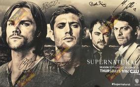 Poster Sobrenatural Autografada,comic Con 2016