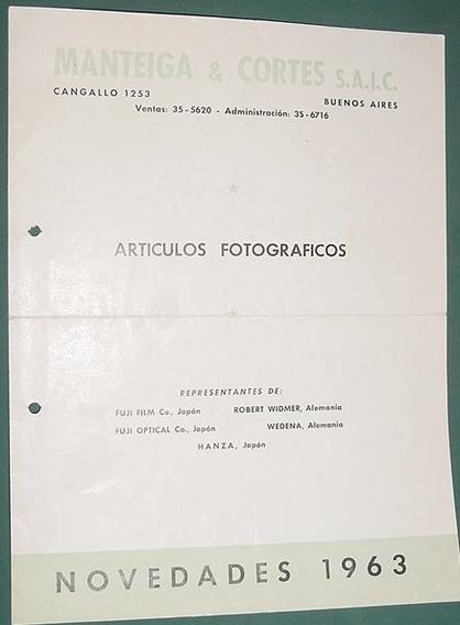Publicidad Folleto Camaras Fotograficas Manteiga Articulos