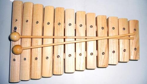 Xilofon Latin Custom 12 Notas De Madera Con Golpeadores
