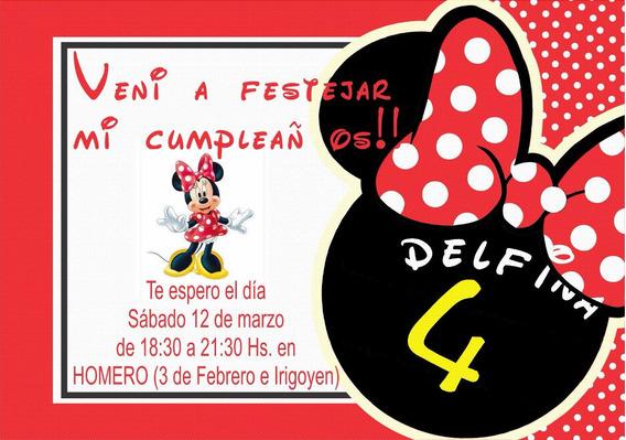 Tarjetas De Cumpleaños Infantil De Minnie