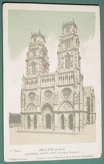 Tarjeta Publicidad Pautauberge Catedral Santa Cruz Orleans
