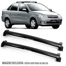 Rack Teto Bagageiro Corsa 02/13 Eqmax 6107 Wave Preto