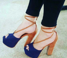 Sapatos Femininos Sandálias Salto Alto De Amarrar