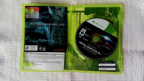 Jogo Midia Fisica Metal Gear Solid V Ground Zeroes Xbox 360
