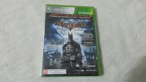Batman Arkhan Asylun Game Of The Year Para Xbox 360 Lacrado