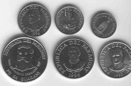 Serie De 6 Monedas De Paraguay Sin Circular