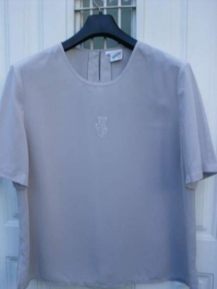 Camisa Camisola Busto 120 Cm. Crepe Seda Super Delicada