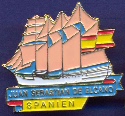 Imagen 1 de 1 de Pin * Velero Español Juan Sebastian El Cano * Sin Uso *