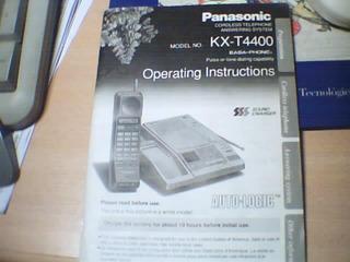 Manual Original Del Contestador Automatico Kx-t4400