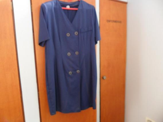 Vestido Azul Oscuro Cruzado Talle 48-50...