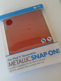 Capa Case iPad 2 Generation Vermelha Rígida Marca Macally