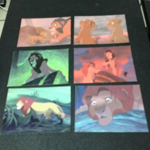 6 Cards Rei Leão Usados
