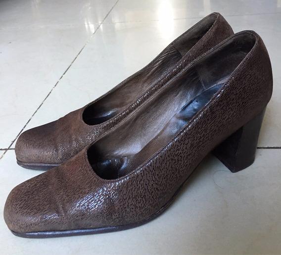Zapatos 100% Cuero Con Textura