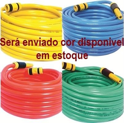Promocao 10 Mts Cj Mangueira Jardim 1/2 Siliconada Reforçada