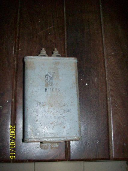 Antiguo Capacitor Leyden H1008 En Perfecto Estado