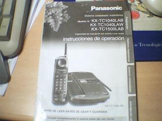 Kx-tc1040 / 1500 Contestador Autom. ** Manual Original ***
