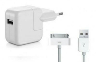 Kit Carregador+cabo Usb P/iPod iPhone 4 4s/iPad 2 3