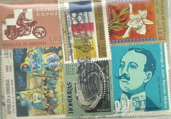 Paquete Con 100 Estampillas Diferentes De Honduras