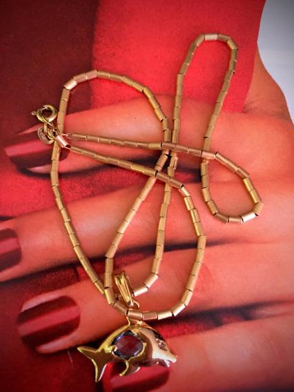 Colar Ouro 18k-9.9g- 41cm-com Pingente.