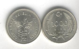 Moneda De Turquia Proteccion Del Medio Ambiente, Oferta!!!!!