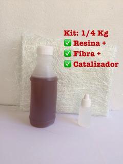 Kits De Fibra De Vidrio Y Resina ( 1/4 Kg )