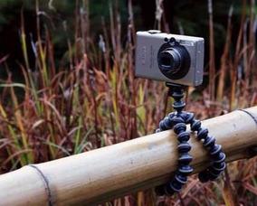 Mini Tripé Flexível P/ Câmeras Celulares Portátil Multiuso