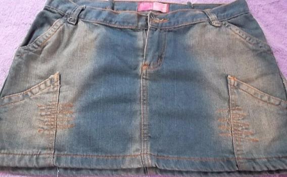Mini Saia Jeans Da Via Vamlex Tam 42