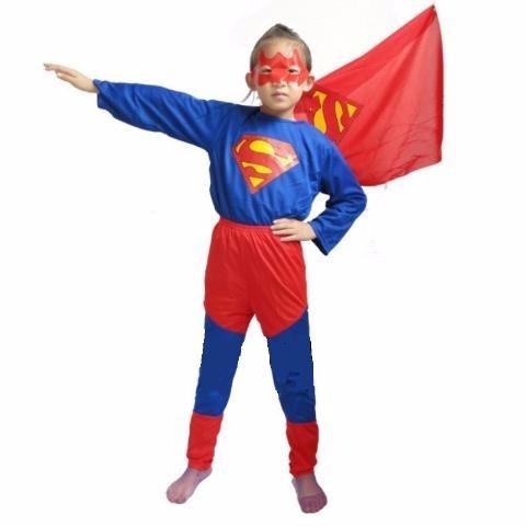 Disfraz De Superman Ropa Para Niños Traje Mascara L M S