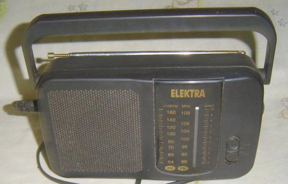 Rádio Antigo Elektra No Be-22 - Am - Fm - Leia O Anúncio.