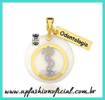 Odontologia - Colar,cordao,semi Joias,banhado Ouro Garantia