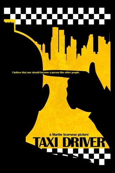 Carteles Antiguos Gruesa Poster 60x40cm Taxi Driver Fi-063