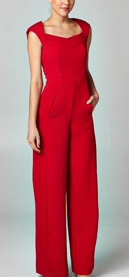 Jumpsuit Rojo Con Manguitas