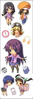 Plancha De Stickers De Anime De Bakemonogatari Hitagi